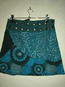 Gringo Short Wrap Popper Skirt - 100% Cotton one size