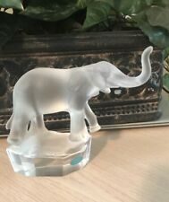 Goebel Elephant Frosted Crystal Figurine, 6� Tall