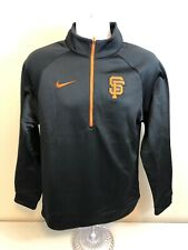 San Francisco Giants 1/2 Sleeve Zip Nike Pullover Mens Small Black