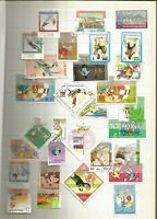 Fussball Lot Briefmarken Sellos Timbres Stamps
