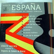 ARGENTA espana preludios de obras famosa LP VG+ FM LP 6 Vinyl  Record