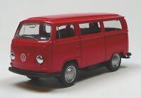 VW Bus (1972) Bulli T2 rot Modellauto 1:60 Metall Spritzguss von WELLY Neuware!