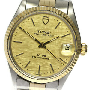 TUDOR Prince Oyster Date 74300 cal.2824-2 gold Dial Automatic Men's Watch_625768