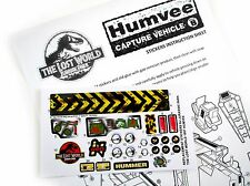 Replacement Stickers for Kenner Jurassic Park Lost World Humvee Pre-cut!