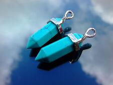 Fashion Natural Gemstones Hexagonal Pointed Chakra Healing Pendants Charms Bead