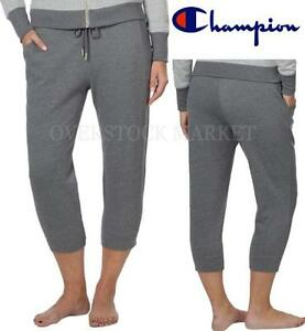 NEW! WOMENS CHAMPION ELITE FRENCH TERRY CROPPED SWEATPANT CROPPED PANT VARIETY!