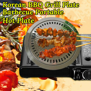Portable Korean BBQ Grill Plate Stainless Steel Plate For Outdoor Campin