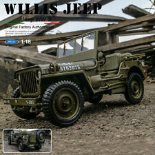 Scale 1:18 Diecast Car Model 1941 Jeep Willys MB World War Ⅱ US Military Truck