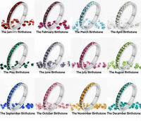 316L Stainless Steel Stackable Birthstone Eternity Ring 3MM Comfort Band