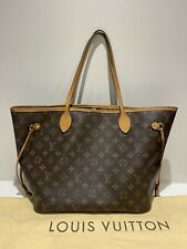 Louis Vuitton Neverfull MM Monogram Canvas Shoulder Bag Handbag Tote Entrupy DB