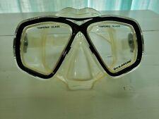 Vintage U.S.DIVERS Snorkeling Diving Black rimmed tempered Glass GOGGLES