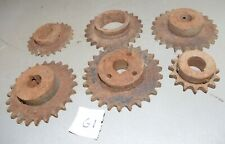 6 industrial gear steam punk collectible repurpose metal art vintage machine G1