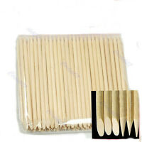 100X Nail Art Orange Wood Stick Cuticle Pusher Remover Hot Sale