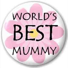 Small 25mm Lapel Pin Button Badge Novelty World'S Best Mummy