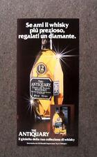 [GCG]  M652 - Advertising Pubblicità -1984- WHISKY THE ANTIQUARY , IL GIOIELLO