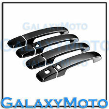Black Chrome 4 Door Handle+Smart key+No PSG KH Cover for 07-12 Nissan Sentra
