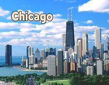 Illinois - CHICAGO - Travel Souvenir Magnet