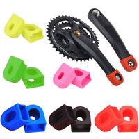 1Pair Bike Crank Protector Arm Boots Silicon Bicycle Crankset Protective Cover