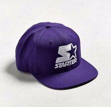 STARTER Black Label Snapback Hat Purple / White Adjustable