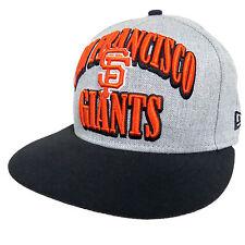 SAN FRANCISCO GIANTS Baseball HAT Gray N. ERA Medium Large SNAP BACK Cap 9FIFTY