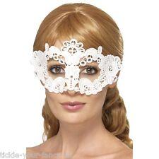 Femme emroidered dentelle blanche Filgree floral masque yeux mascarade poule halloween