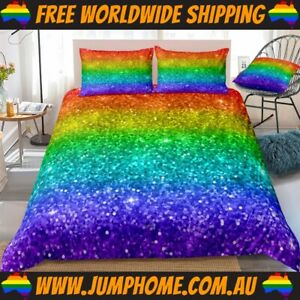 Rainbow Stars Bedspread Set - Duvet Cover, Bright *FREE WORLDWIDE SHIPPING*