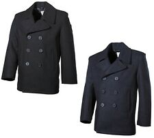 Pea Coat Mantel Marine Jacke Kurzmantel Peacoat Herren Navy US Wintermantel