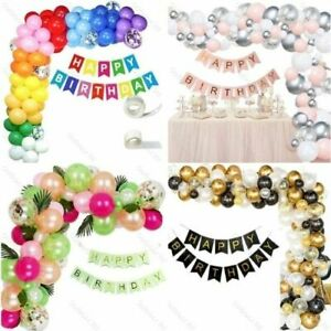 Baloons Arch Kit + Latex Chrome Balloons Garland Birthday Wedding Baby Shower UK
