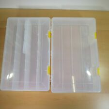 Lot of 2 Plano Stowaway Open Compartment Divided Compartment Boxes 3730 + 3731
