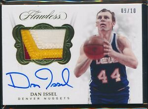 2017-18 PANINI FLAWLESS DAN ISSEL PATCH JERSEY AUTO AUTOGRAPH 9/10!