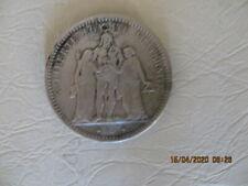 PIECE 5 FRANCS HERCULE ARGENT 1873