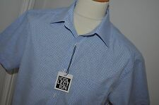 """DESIGNERS AT DEBENHAMS THE COLLECTION BLUE CHECK SHIRT SIZE16""""(NEW WITH TAGS)"""