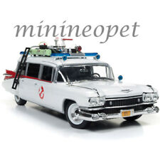 AUTOWORLD AWSS118 GHOSTBUSTERS 1 MOVIE 1959 CADILLAC AMBULANCE ECTO 1 1/18 WHITE