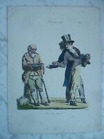 Lito S.XIX Langlume De Martinet - Pie Brave Hombre Pigal Edme Jean Circa 1833
