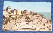 MARINE PARADE AND BEACH, WORTHING OLD POSTCARD