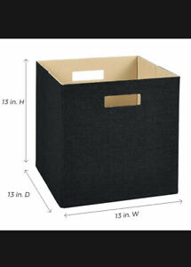 Closetmaid 13x 13x 13 in.Decorative Fabric Storage Bin in Black.16b