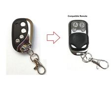 simtech automatic gate compatible remote control black & curved chrome opener