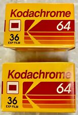 Kodak Kodachrome 64 Kr 135-36 Color Reversal Slide Film Expired 1994- 2 rolls