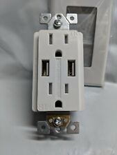 White 15 Amps Leviton GIDDS-606679 1-Pole Commercial Grade Ac Combination Toggle Switch And Receptacle Nema 5-15R 120 Volts