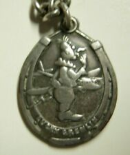 "WW2 ""Lucky Gremlin"" Sterling Pendant on Sterling Chain - AAF Fetish Charm"