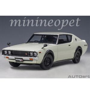 AUTOart 77472 NISSAN SKYLINE GT-R KPGC110 1/18 MODEL CAR WHITE