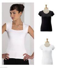Women's Sleeveless Collarless Tops & Shirts