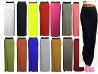 Ladies Jersey Length Maxi Skirt Women Long Gypsy New Skirt Size 8 10 12 14 *JrSK