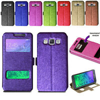For Samsung Galaxy A5 2015 Slim Flip Wallet Case Stand Cover + Screen Protector