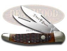 BOKER TREE BRAND Jigged Brown Bone Folding Hunter Stainless Pocket Knife