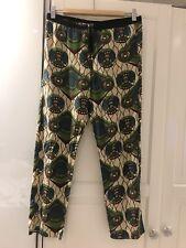 Limited Marni x H&M Pantalon Pantalon, 100% soie, taille XS, EUR 36, US 6 Beige Noir