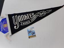 MITCHELL & NESS NEW YORK YANKEES 1943 WORLD SERIES WOOL PENNANT W/CARD