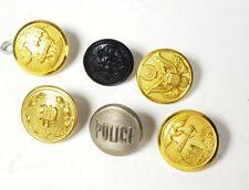 Lot Of (6) Vintage Antique Misc. Small Uniform Buttons - B23