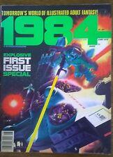 1984 #1 (1978) Warren B&W comics magazine VG+/FINE-