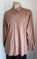 Ermenegildo Zegna Men's Brown Check Long Sleeve Shirt L Large Made in ITALY